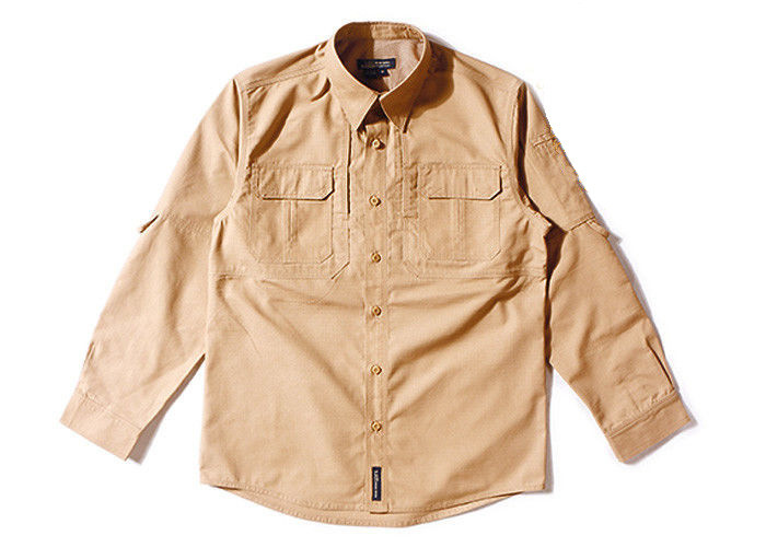 Brown Shirt Long Sleeve Men Woodland T Dry Fit Camo T-shirt